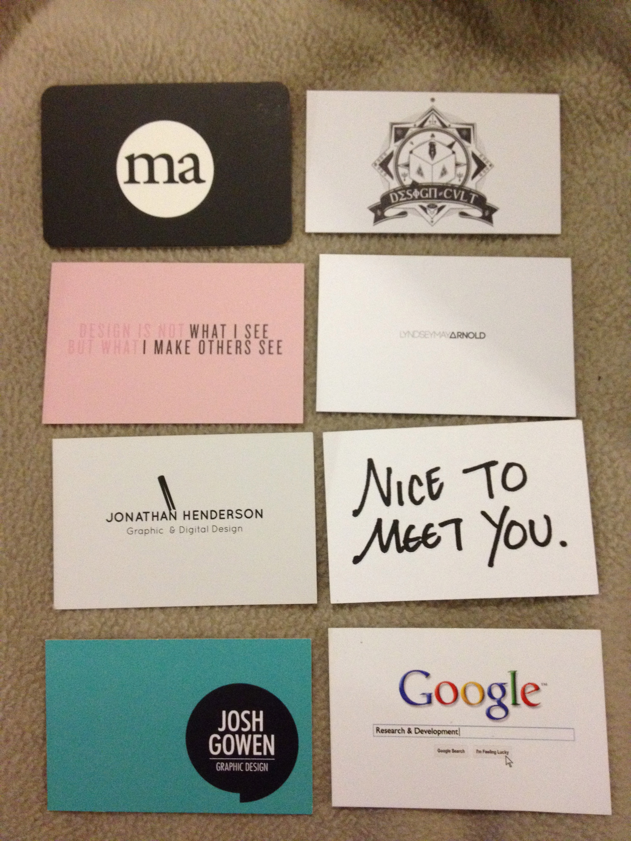 business cards in this day and age… – gabrielle taylor